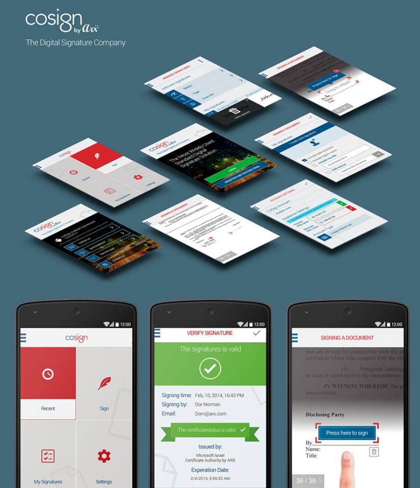 עיצוב אפליקציית cosign