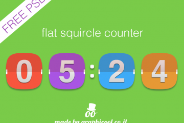 Freebie – The Flat Squircle Count Down