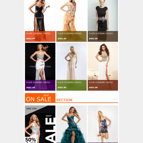 Prom Outfitters- Newsletter Email Template