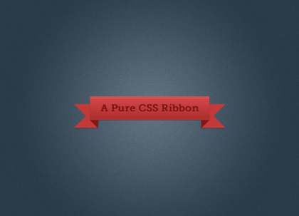 Pure CSS Ribbon Builder