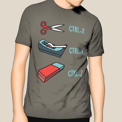 T Shirt | Cut, Paste, Delete